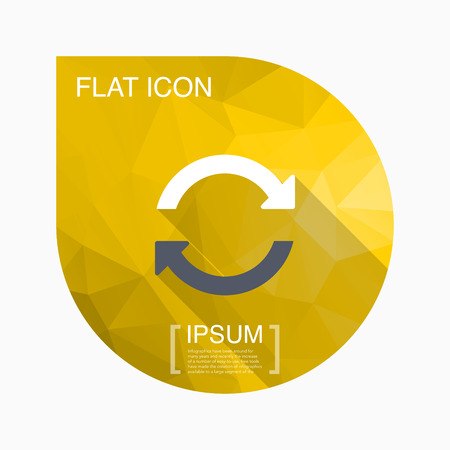 sync: Sync icon - vector , eps10(flat icon , long shadow)