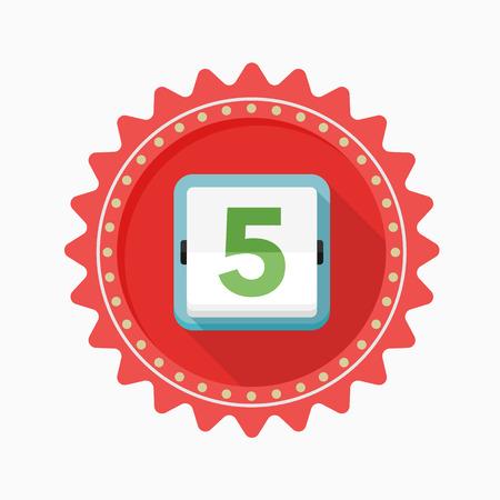 scheduler: Calendar icon - vector , eps10 (flat icon , long shadow)