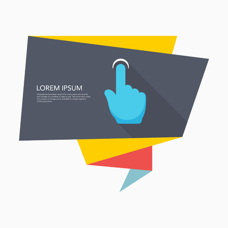 finger touch: Finger touch icon - vector , eps10 (flat icon , long shadow) Illustration