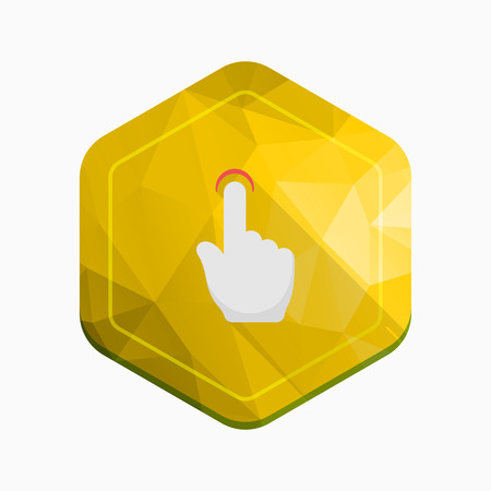 finger touch: Finger touch icon - vector , eps10(flat icon , long shadow)