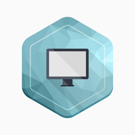 desktop pc: Desktop PC icon - vector , eps10 (flat icon , long shadow)