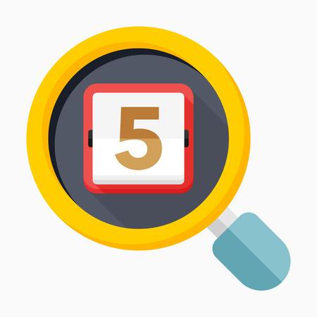 scheduler: Calendar icon - vector , eps10(flat icon , long shadow)