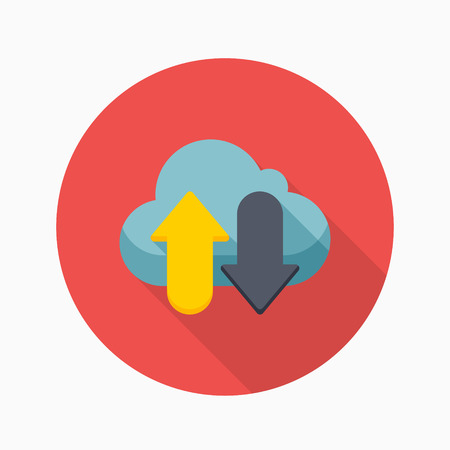 availability: Cloud save icon, vector illustration. Flat design style with long shadow,eps10 Illustration