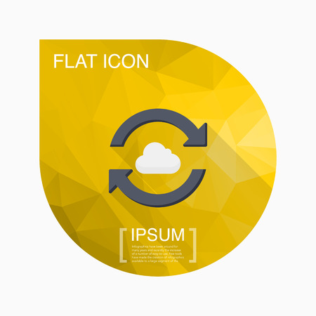 sync: Cloud sync icon, vector illustration. Flat design style with long shadow,eps10 Illustration