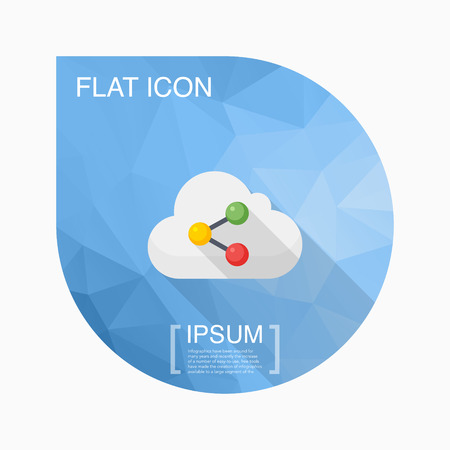 in sync: Cloud sync icon, vector illustration. Flat design style with long shadow,eps10 Illustration