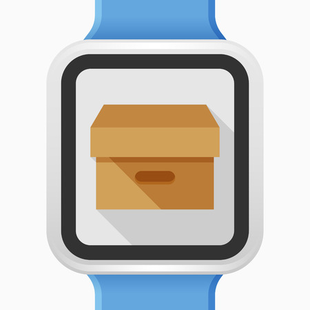 package icon: Package icon - vector , eps10(flat icon , long shadow) Illustration
