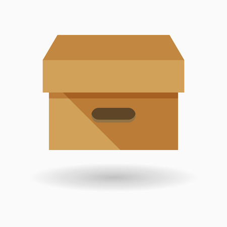 package icon: Package icon - vector , eps10 (flat icon , long shadow) Illustration