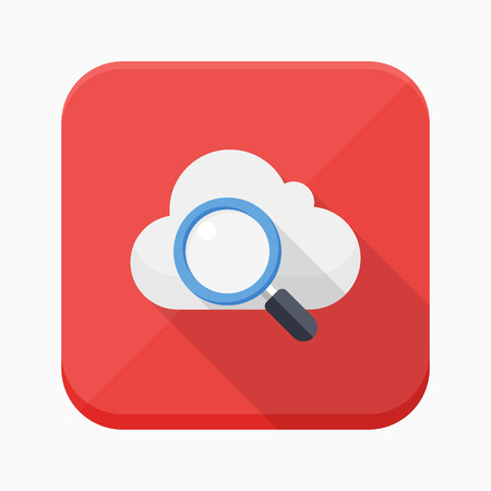 cloud search: Cloud search icon, vector illustration. Flat design style with long shadow,eps10 Illustration