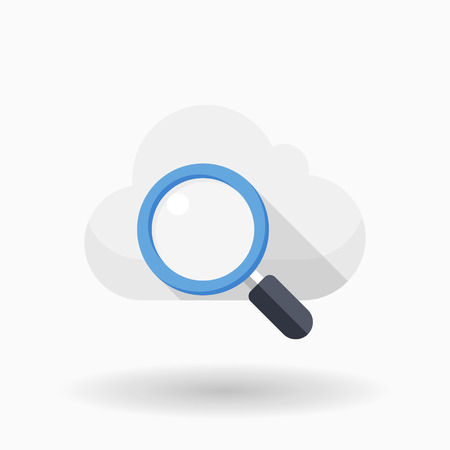Cloud search icon, vector illustration. Flat design style with  shadow,eps10  イラスト・ベクター素材