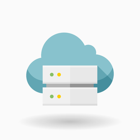 server hardware: Cloud server icon, vector illustration. Flat design style with  shadow,eps10 Illustration