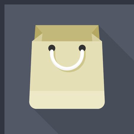 fashion: Shopping bag icône, illustration vectorielle. Flat style design avec une longue ombre, eps10 Illustration