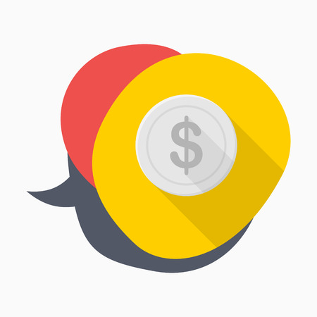 Coin icon, vector illustration. Flat design style with long shadow,eps10 向量圖像