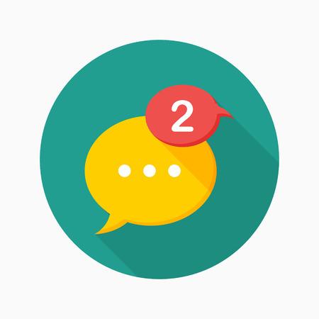 notice: Message notice icon, vector illustration.  Illustration