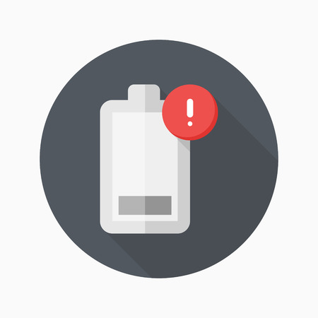 power icon: Low power icon, vector illustration.