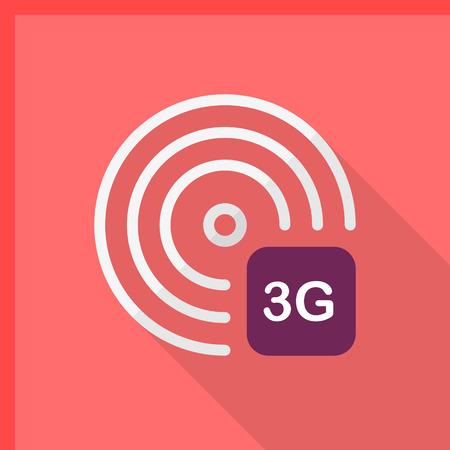 3g: 3G icon, vector illustration.