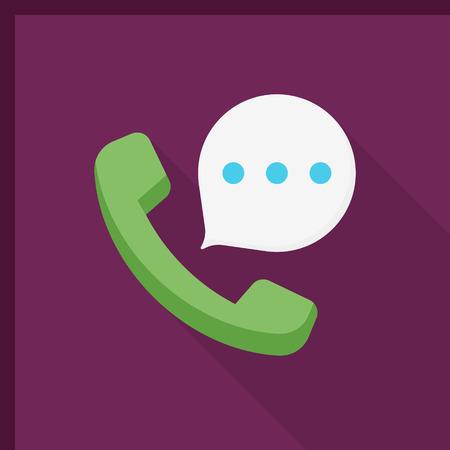 phone call: Phone call icon, vector illustration. Illustration