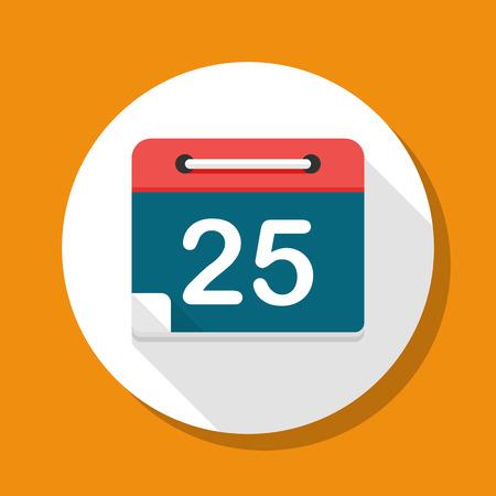 scheduler: Calendar icon, vector illustration.