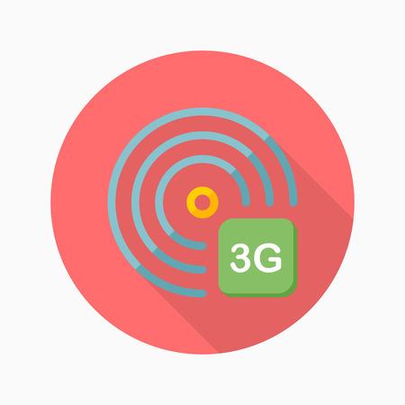 3g: 3G icon, vector illustration. Illustration