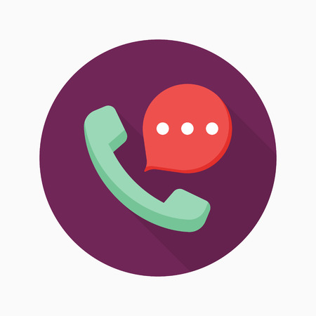 phone and call: Phone call icon, vector illustration.