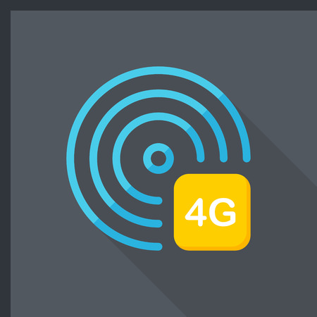 4g: 4G icon, vector illustration.