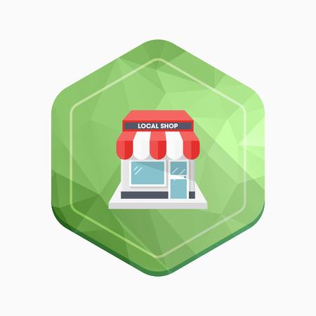 Store icon, vector illustration.