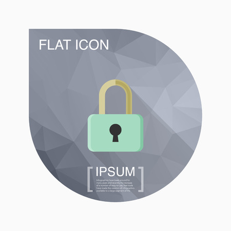 lockout: Lock icon, vector illustration. Flat design style with long shadow,eps10