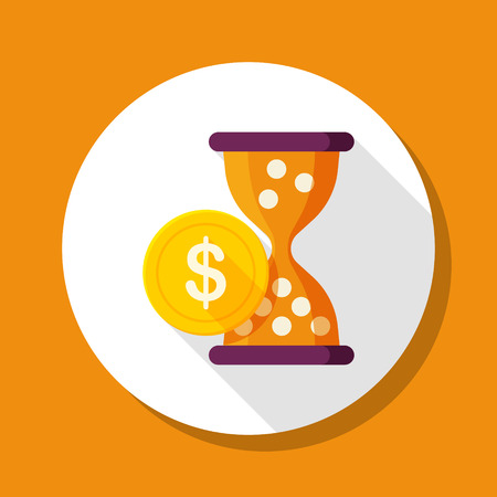 style wealth: Wealth accumulation icon, vector illustration. Flat design style with long shadow,eps10