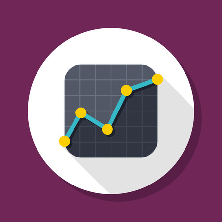 Stock market icon, vector illustration. Flat design style with long shadow,eps10 向量圖像