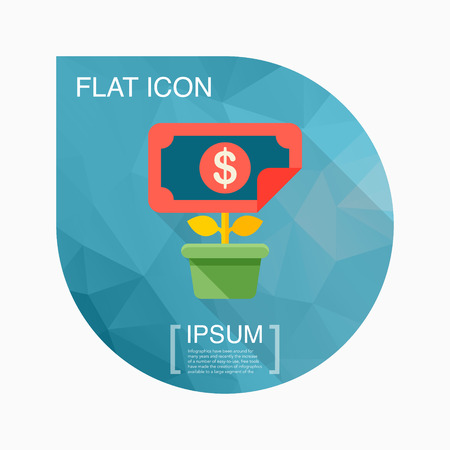 style wealth: Wealth growth icon, vector illustration. Flat design style with long shadow,eps10