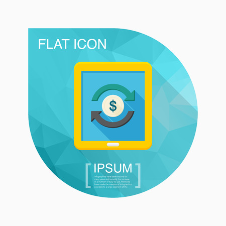 online trading: Online Trading icon, vector illustration. Flat design style with long shadow,eps10 Illustration