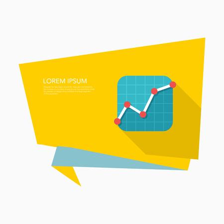 stock market: Stock market icon, vector illustration. Flat design style with long shadow,eps10 Illustration