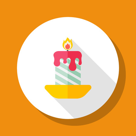 candlestick: Candlestick icon, vector illustration. Flat design style with long shadow,eps10