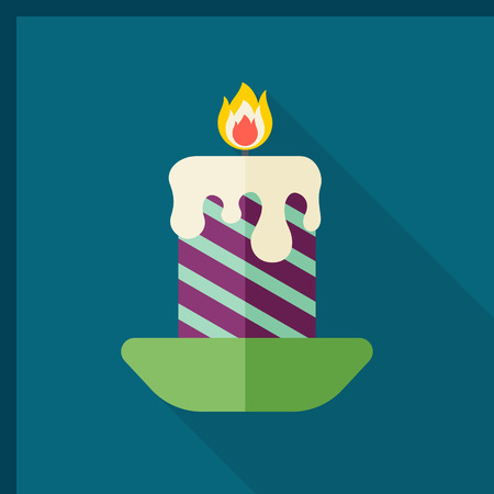 candelabrum: Candlestick icon, vector illustration. Flat design style with long shadow,eps10