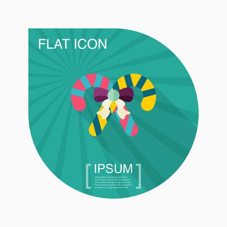 canne a sucre: Sucre de canne ic�ne, illustration vectorielle. Appartement style de conception avec une longue ombre, eps10
