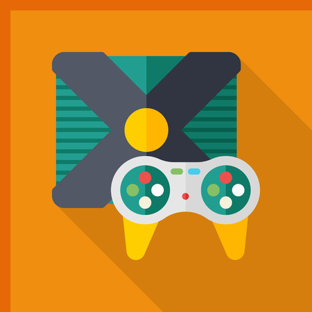 gameplay: Gameplay icon, vector illustration. Flat design style with long shadow,eps10 Illustration