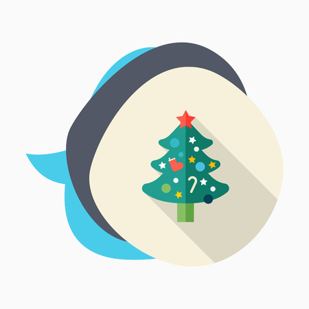 star ornament: Christmas tree icon, vector illustration. Flat design style with long shadow,eps10 Illustration