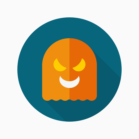 otherworldly: Ghost icon, vector illustration. Flat design style with long shadow,eps10
