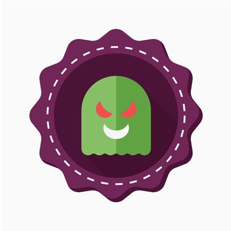 otherworldly: Ghost icon, vector illustration. Flat design style with long shadow Illustration