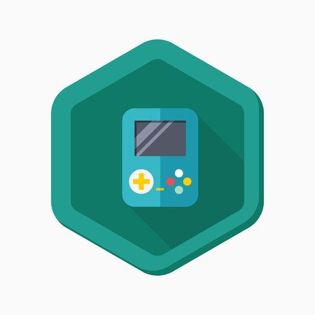 handheld device: Gamepad icon, vector illustration. Flat design style with long shadow,eps10