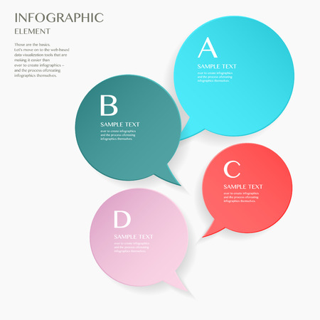 lable: 3D modern vector abstract step lable (Speech bubble) infographic elements  for business , banners , web site , brochures Illustration