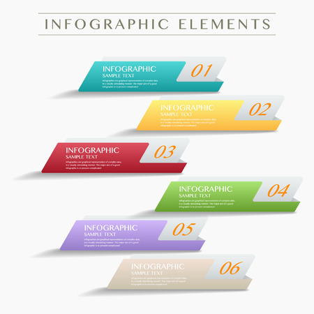 lable: 3D modern vector abstract step lable infographic elements  for business , banners , web site , brochures Illustration