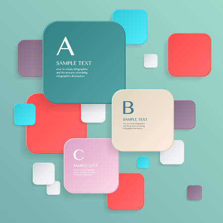 form a circle: 3D modern vector abstract step lable infographic elements  for business , banners , web site , brochures Illustration