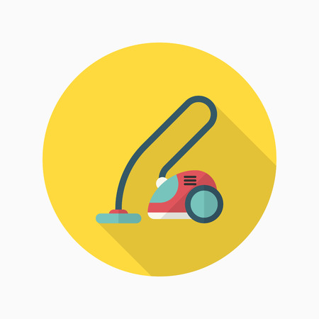 carpet clean: Vacuum cleaner icon , Vector flat long shadow design. Illustration