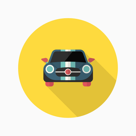 car wheels: Dragster icon , Vector flat long shadow design. Racing concept. Illustration