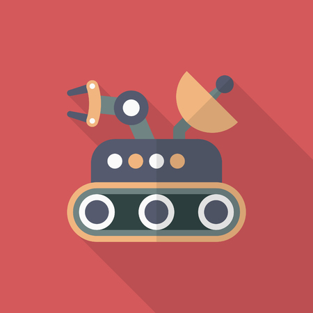 rover: Rover  flat  icon with long shadow Illustration