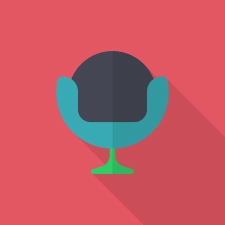 divan: Sofa icon , Vector flat long shadow design.