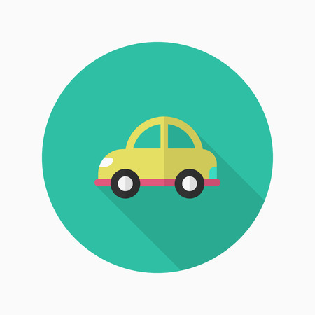 Auto pictogram, Vector platte lange schaduw design. Transport concept.