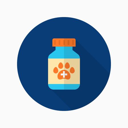 drug test: Pet Medical icon , Vector flat long shadow design.