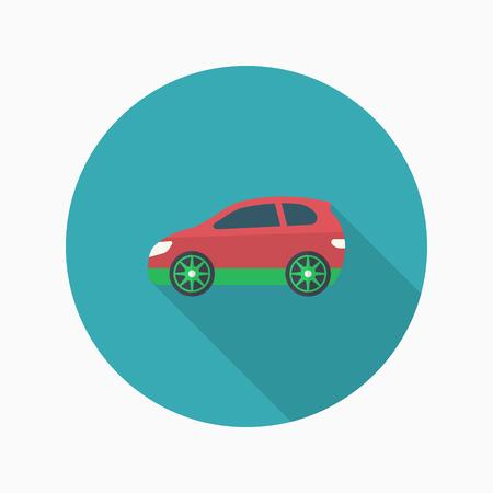 Sport car icon, Vector flat long shadow design. Racing concept. Illustration