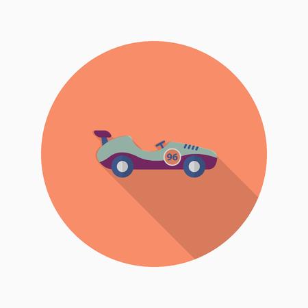 Roadster icon , Vector flat long shadow design. Racing concept.